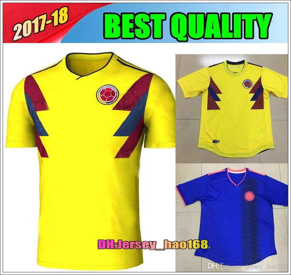 093244466 ... Jersey Colombia Soccer Jerseys 2018 World Cup Home Away Shirt 10 JAMES  9 FALCAO 11 CUADRAD 8 ...