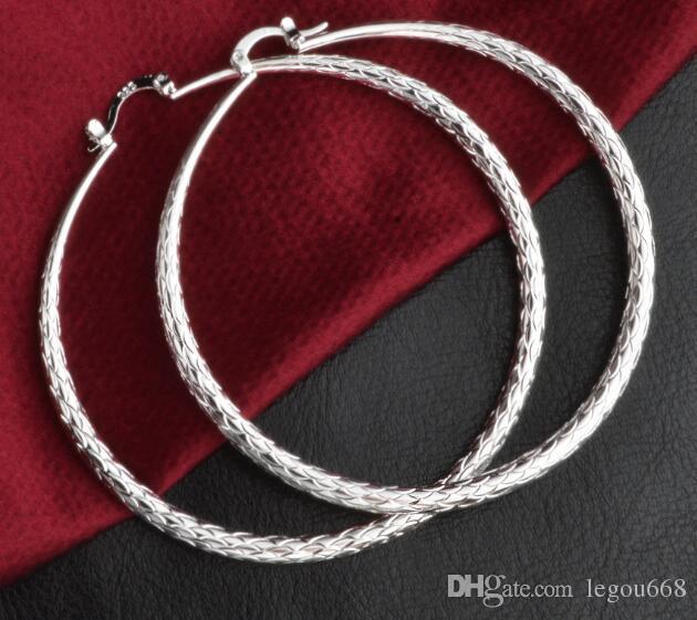Der Außenhandel Schmuck Ohrringe große Art und Weise große Kreis-Ohrringe 925 Versilberung Hersteller direkte Versorgung