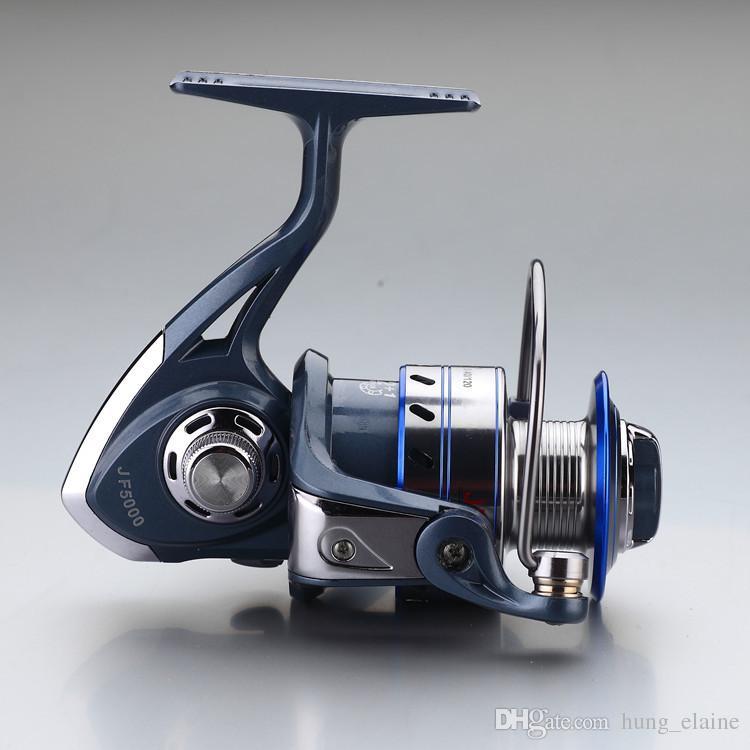 Chaude Super Allblue Technologie Moulinet De Pêche 12BB + 1 Roulement Boules 1000-7000 Série Bleu Spinning Reel Bateau Rock Fishing Whee