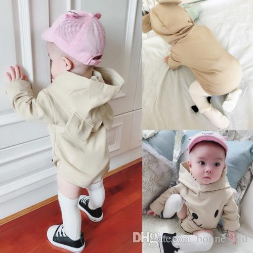1668a34ff3bb 2019 Infant Baby Toddler Animal Romper Hooded Onesies Baby Boy Girl  Bodysuit Jumpsuit Clothes Outfit Long Sleeve Cotton Comfy Kid Clothing From  Bonne kid