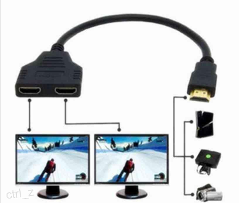 HDMI 1 a 2 cables divisores macho a hembra M / F 1 en 2 convertidor de adaptador de salida para HDMI adaptador