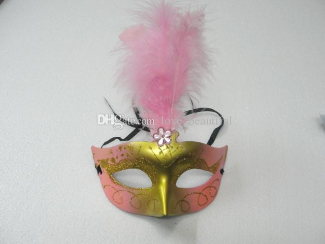 Hot sales Lovely feather Rhinestone mask venetian masquerade party gift christmas decoration wedding favor novelty