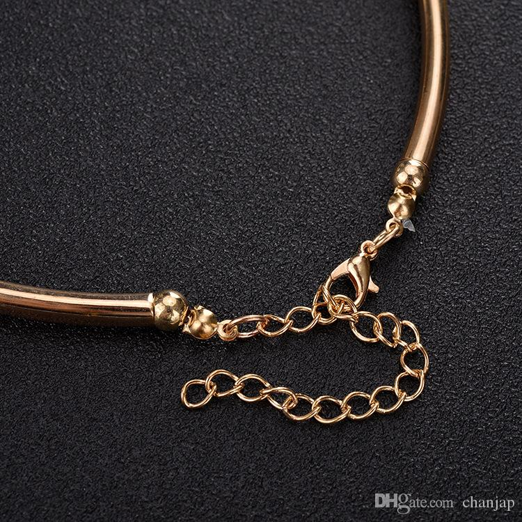 classic golden necklace earrings jewelry sets for women elegant party gift fashional accessory