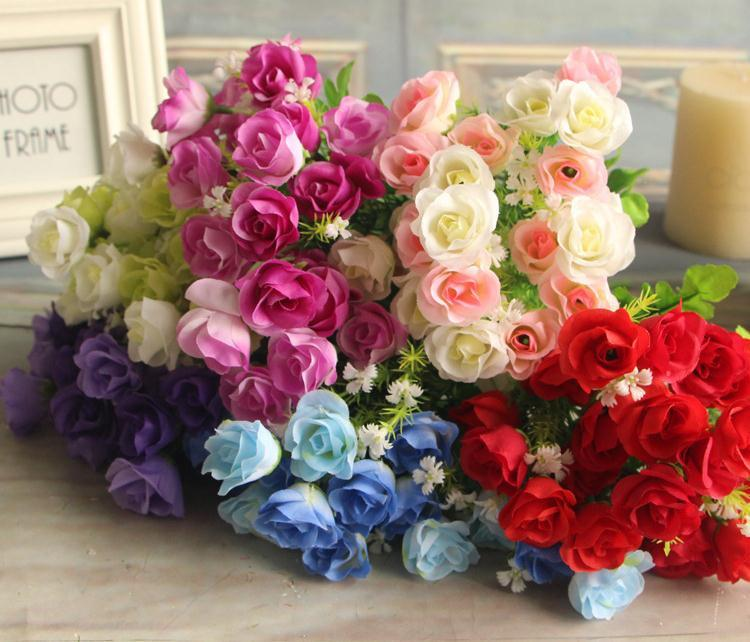 Silk spring rose bunch 33cm1299 length artificial flowers roses silk spring rose bunch 33cm1299 length artificial flowers roses camellia 6 stems for mightylinksfo