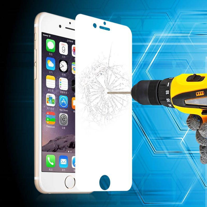 Para Iphone 7 6 6S I6S Plus 5 5S 5C 4 4S Espejo frontal a prueba de explosiones Protector de pantalla de vidrio templado de primera calidad 0.3 mm Película 2.5D con paquete