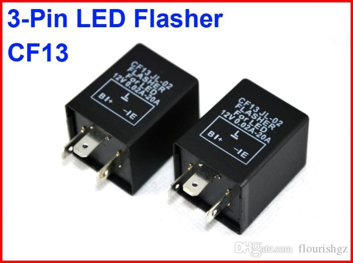 CF13 JL-02 LED Flasher 3 Pin Electronic Relay Module Fix Car Motor LED SMD Turn Signal Light Error Flashing Blinker 12V 0.02A TO 20A