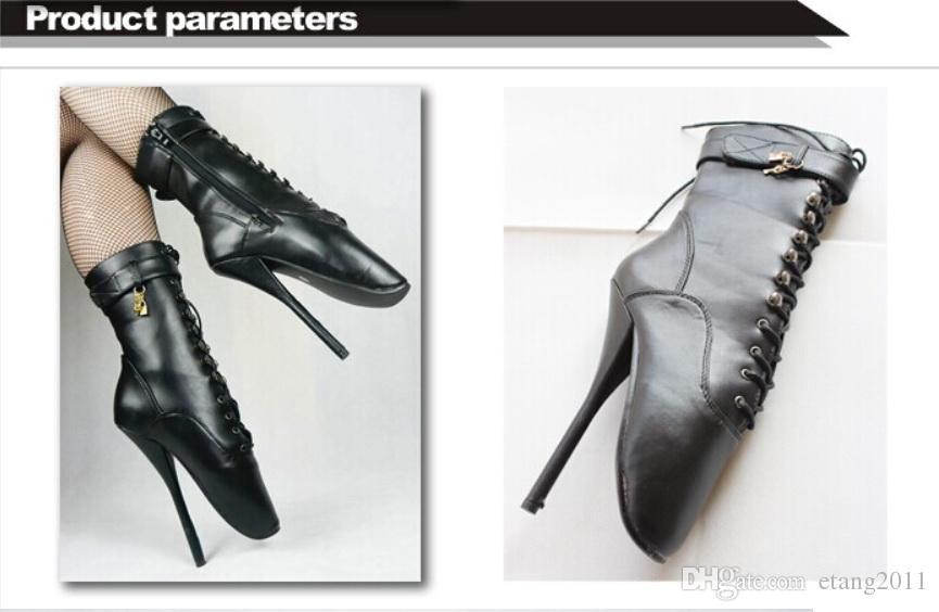 Juguetes sexuales BDSM sm juego fetiche muslo de alta bondage botas Herradura de tacón Especial sexy zapatos de ballet de tacón alto Propósito envío gratis