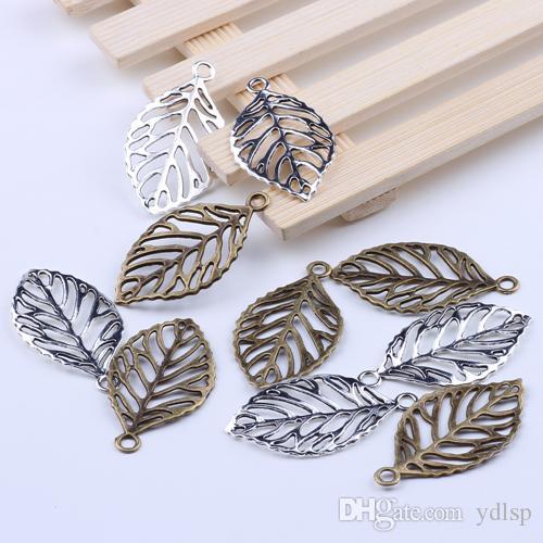 Металл античное серебрение подвески листья подвески ювелирные изделия выводы fit ожерелья ювелирные изделия решений 1912y бесплатная доставка