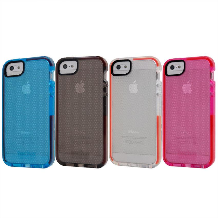 hot sale online 489a1 aeac1 Impact Mesh Tech21 Case For iPhone 5 5S TPU Gel Back Cover Case With Retail  Package