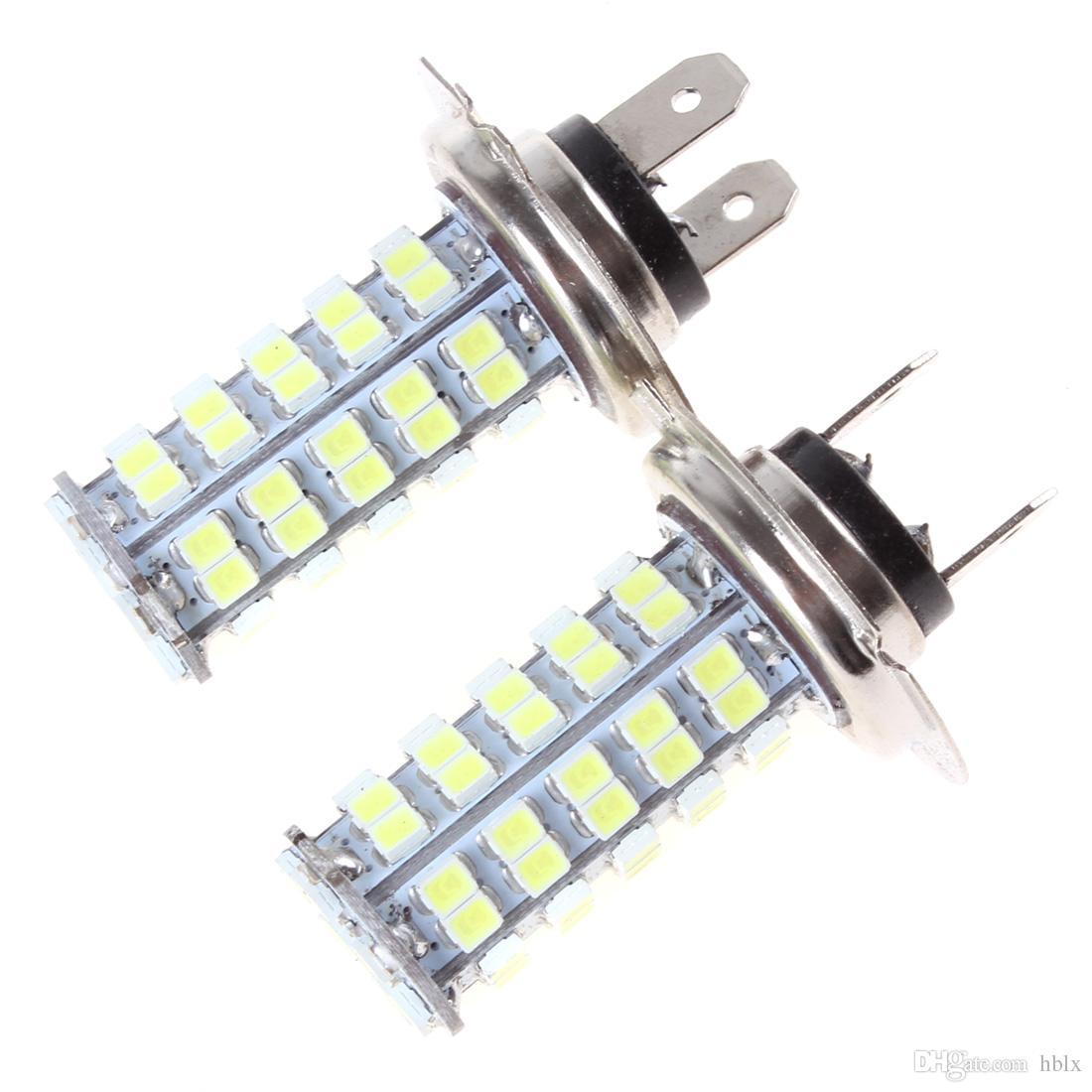 DC 12 В H7 автомобиля противотуманные фары яркий светильник с 68 SMD LED ксеноновые белые лампы CEC_413