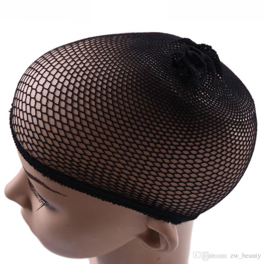 10 개 / 몫 필수 Hairnet 가발 검은 머리 그물 가발 캡 직조 무료 통기성 탄력 나일론 머리 그물 가발 만들기