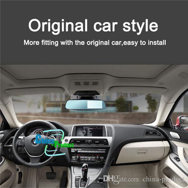 Dual Camera Car Dvr Camera Rearview Mirror Dash Cam G-Sensor HD 1080P 4.3'' 170 Degree night vision High Quality 010229