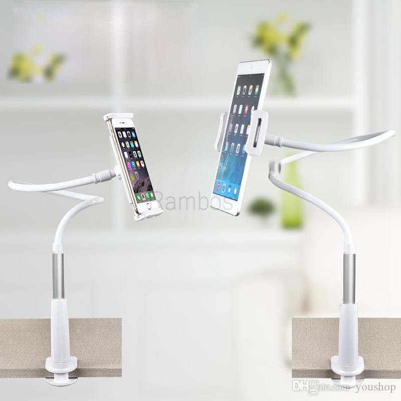 """Universal Flexible Arms Mobile Phone Holder Desk Stand Mount Lazy Bed Tablet Holder Stand for 4"""" to 10"""" Cell Phone Tablet PC"""