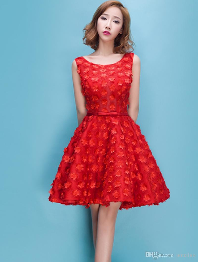Amazing Red Bridesmaid Dresses Short Vignette - All Wedding Dresses ...