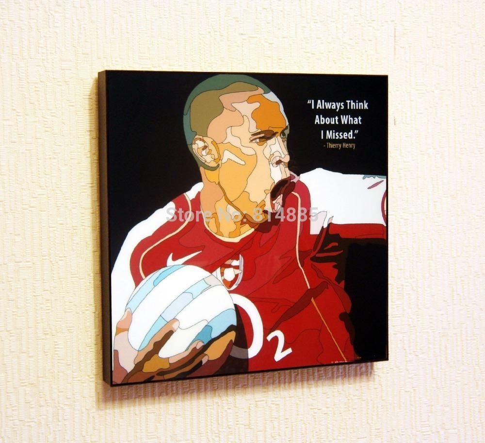 Best Quality Thierry Henry Pop Art Wall Decor Hand Painted Art ...