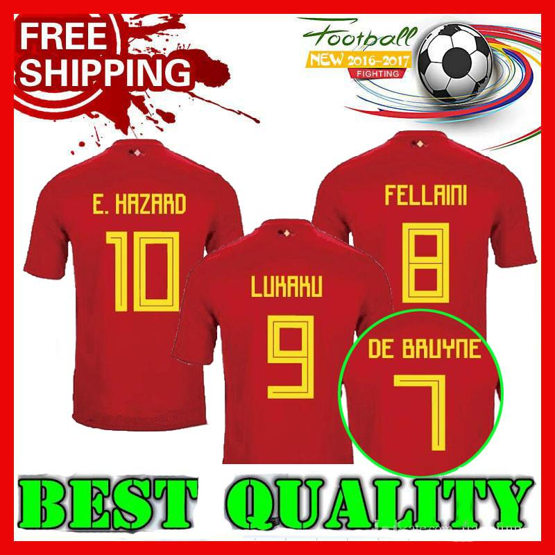 dad6375f 2018 World Cup Belgium Soccer Jersey 2018 Thail Quality Home Red ...