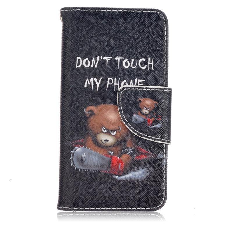 Vogue Tasarım Karikatür Küçük Sevimli Ayı Boyama Cüzdan Pu Deri Flip Case Standı Kart Yuvası Ile Iç Kılıf Iphone 7 S7 S6
