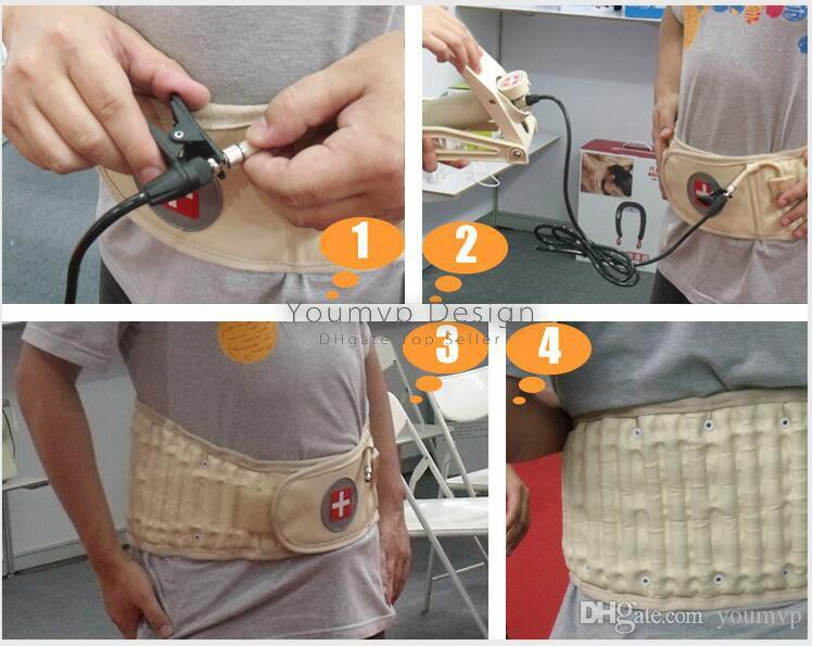 Spinal Air Traction Belt Physio Decompression Back Belt Back Brace Back Pain Lower Lumbar Support Waist Brace Back Massager JJD2053