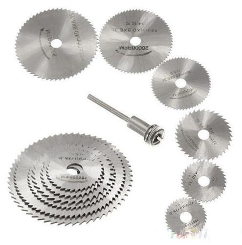 7 pcs/lot HSS Rotary Tools Circular Saw Blades Cutting Discs Mandrel Cutoff Cutter Power tools multitool 1ON7 1ORZ