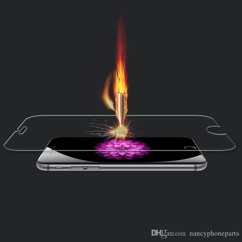 Protecteur d'écran en verre trempé pour iPhone 8 7 Plus 6 6S Film Garde 9 H Dureté Explosion Shatter Film Protecteur 7 plus 5 5C 5S