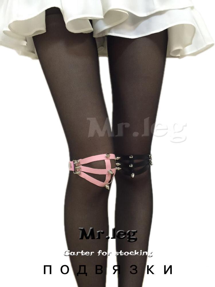 Harajuku подвязки Ремни для Кнесс 3 линии 2016 нога кольцо новый дизайн сексуальный панк ручной работы шипами заклепки подвязки сексуальные игрушки