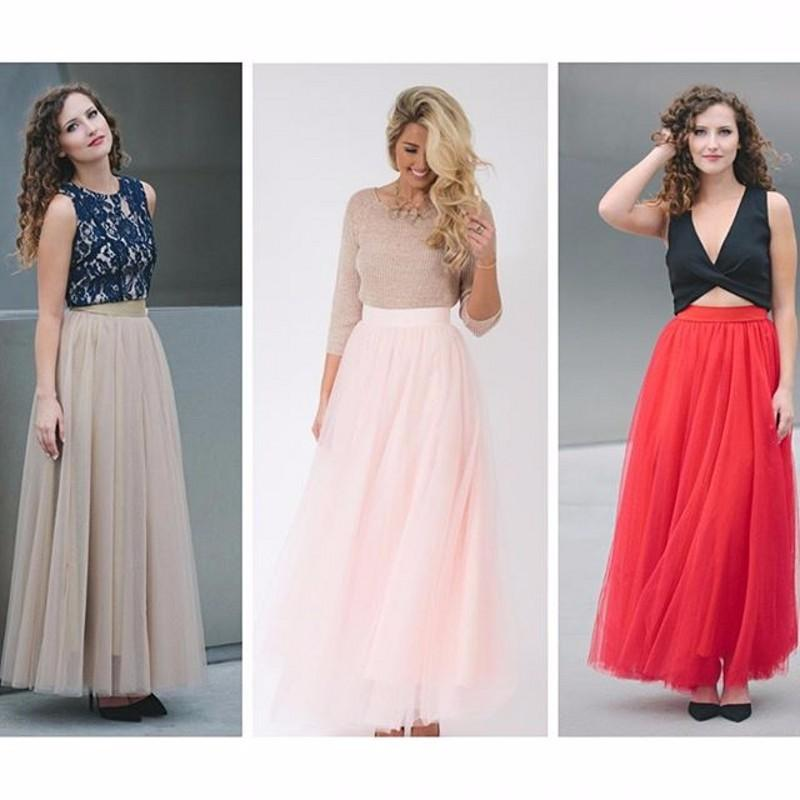 2017 Personalized Tulle Skirts Adults Maxi Skirt Long Tulle Skirt ...
