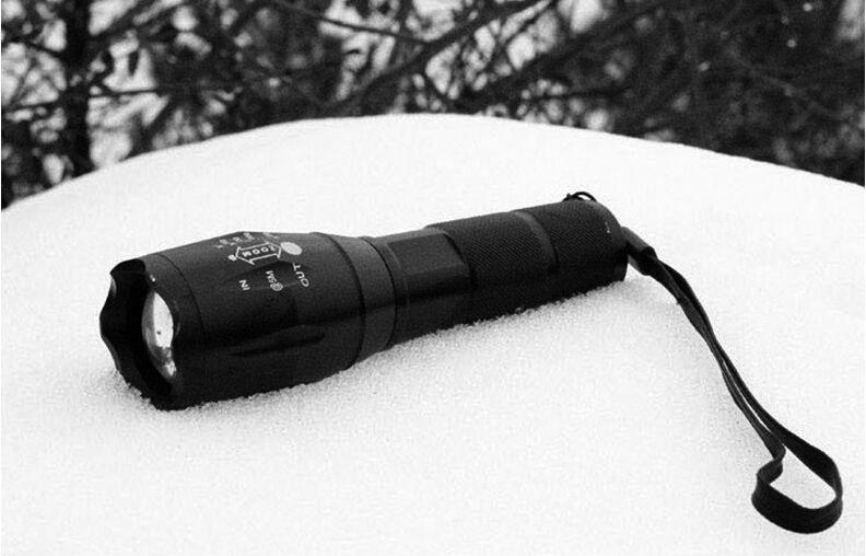 E17 كري xml t6 مضيا 2000 لومينز التكتيكية للماء زوومابلي مصباح قوي التخييم مشاعل الشعلة بواسطة 3xaaa أو 18650 بطارية