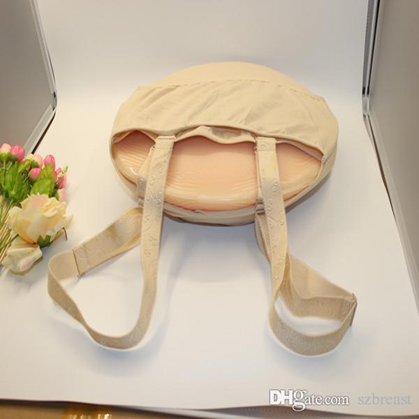 Sacchetto di stoffa 1000g-1500 g / pc Silicone pancia pelle colore pancia artificiale gravidanza finta all'ingrosso e trasporto di goccia