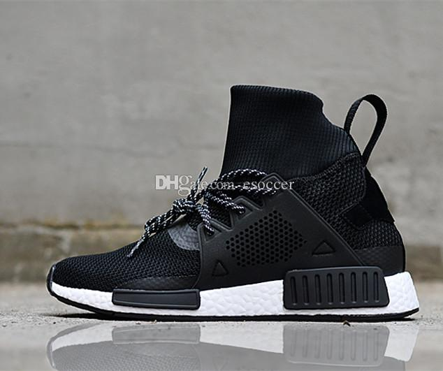 2018 New Fashion NMD High Top Sneakers Kniitting Running Shoes 72770c4f0a