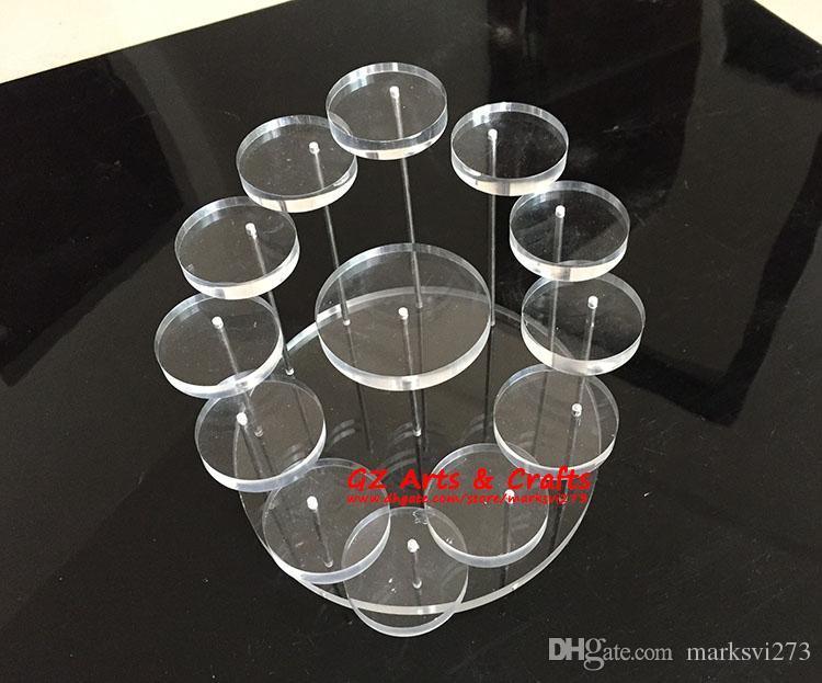 Acryl Kleine Ring Ohrring Schmuckständer Halter Nagellack Parfüm Cosmetic Organizer Display-ständer Micro-Cap Show Rack