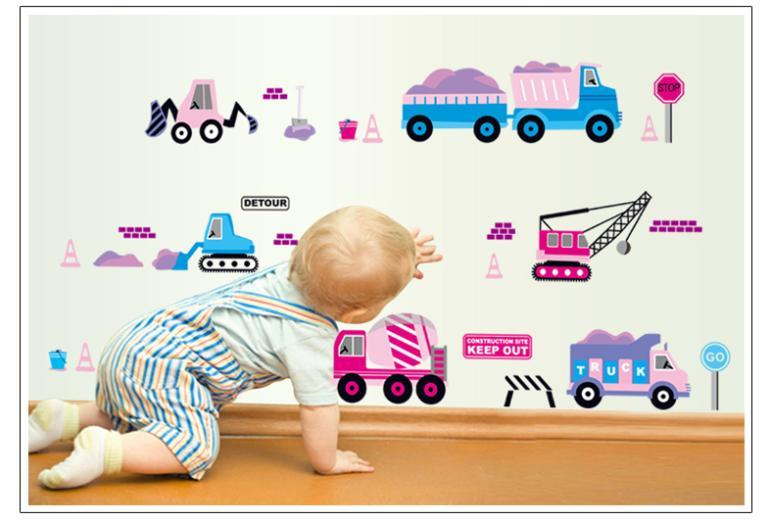 Kid Favorite Early Childhood Cartoon Car Wall Stickers Nursery Childrenu0027S  Room Decor Mural Wall Decals Baby Nursery Wall Decals Baby Nursery Wall  Stickers ...