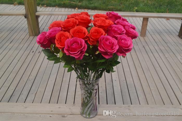 Compre Jarrones Flores Artificiales Rosa Flores Artificiales Flores