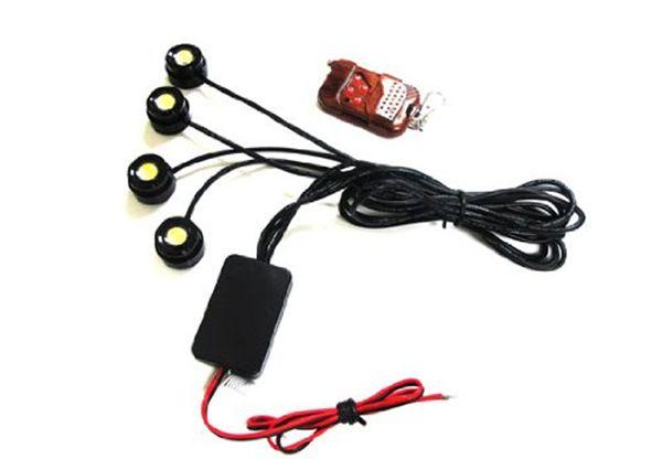 4 * 1.5 w ip68 flash strobe águia luz olho led carro invertendo luz de backup cauda stop daytime running luz com controle remoto