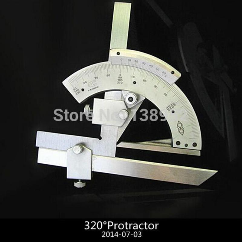 Freeshipping High quality 320 Degree Universal Bevel Protractor Angular  Dial Length 150mm