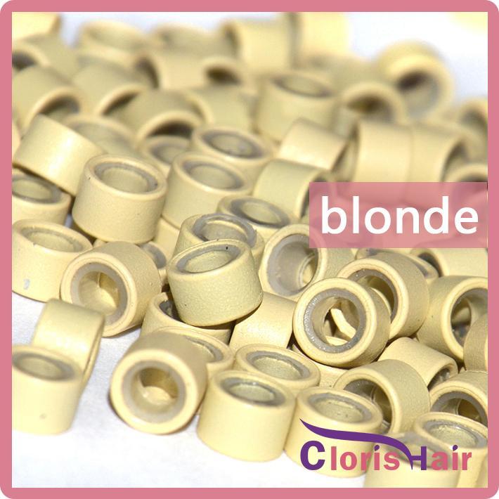 Оптовая 1000 шт. 5 мм алюминиевые микро кольцами силиконовые лишенные ссылки бусины трубка для я наконечника наращивание волос инструменты комплект аксессуары 6 цвет опционально
