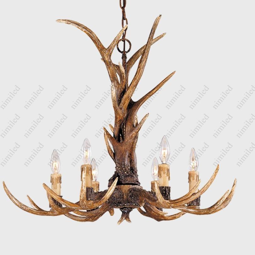 Staghorns Wisiorek Light Rustic Salon Lights Restauracja Lampy Oświetlenie Lampy Moda Staghorns Lampa HSA1653