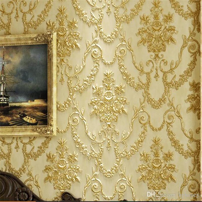 Wholesale 3d Three Dimensional Sculpture Wallpaper Retro European Style  Bedroom Living Room Tv Background Wallpaper Long Fiber Ab Pc Wallpaper Pc  Wallpaper ...