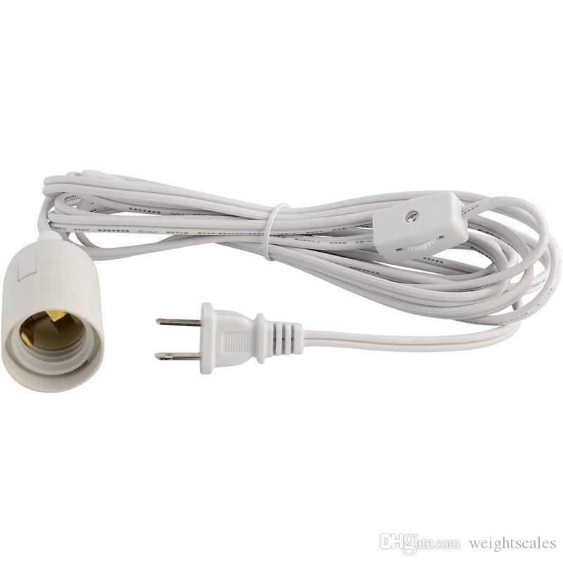 Cordones de la lámpara de IQ cable de la pantalla de la lámpara cable de alimentación cable de alimentación de alambre 110V cable de alimentación de la UL de Europa y América 12 pies
