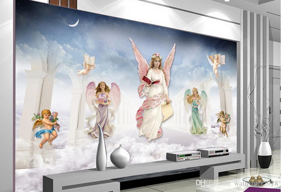 Acquista carte da parati soggiorno pittura di fantasia in stile