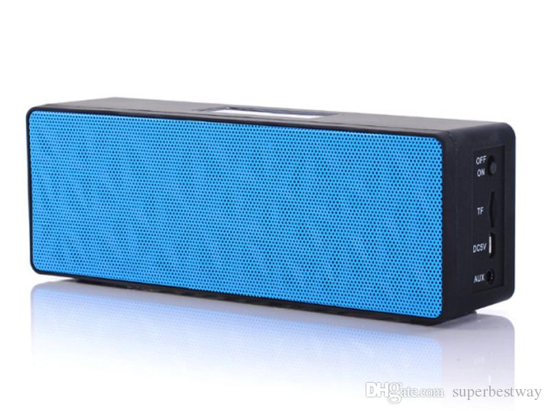 N16 Bluetooth Speakers Hand Free Built-in Battery TF Slot AUX Port Super Bass Portable Music Players For Outdoor Sports DHL Free MIS082