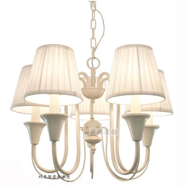 Discount modern painted white iron 5 lights 72cm bedroom chandeliers romantic princess kids pink - Cheap bedroom chandeliers ...