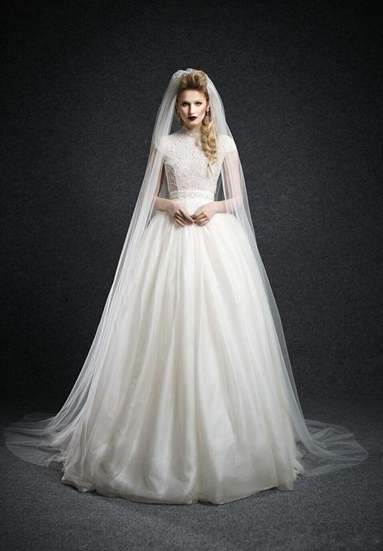 2015 Long Wedding Dress Bridal Veil Delicate Veils Royal Cathedral ...