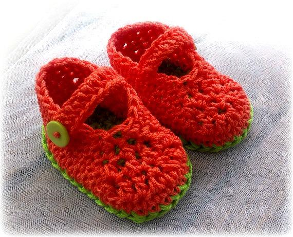 2015 Crochet baby girl spring / summer shoes /red shoes / booties, green first walker shoesBaby Girl Boots