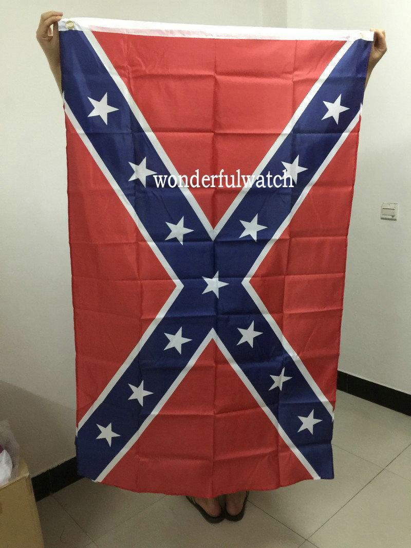 50 шт./лот США Конфедерации повстанцев Гражданской войны флаг национальный полиэстер флаг баннер две стороны печатных флаг 5X3FT 75D DHL Бесплатная доставка