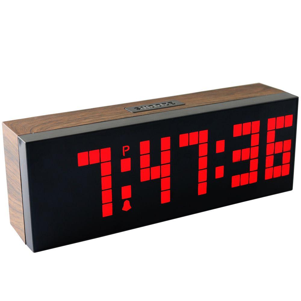 6fe5ee7d454d Compre Gran Pantalla LED Reloj Despertador Led Digital Grande Reloj  Calendario Reloj De Pared Reloj De Pared Con Control De Brillo A  21.83 Del  Ck rain ...