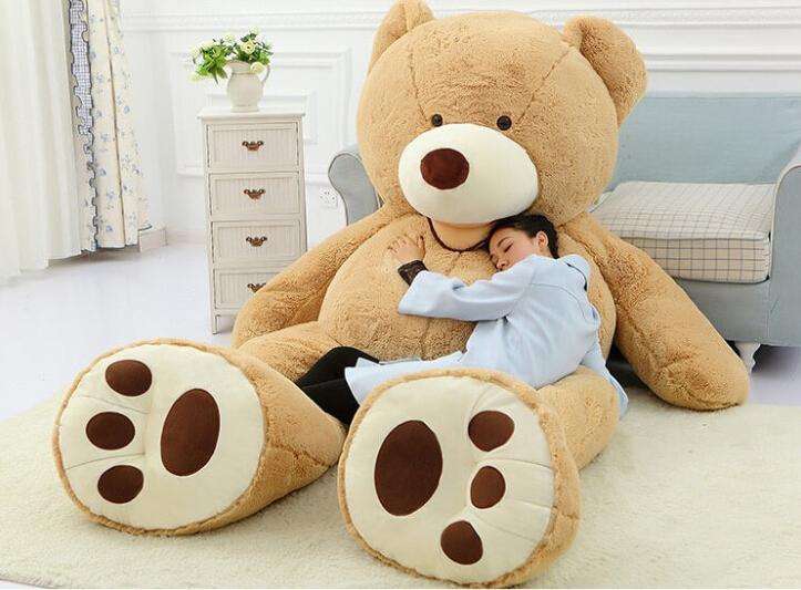 new costco 93 inch plush bear soft giant teddy bear pp cotton huge stuffed bear brown snuggle. Black Bedroom Furniture Sets. Home Design Ideas
