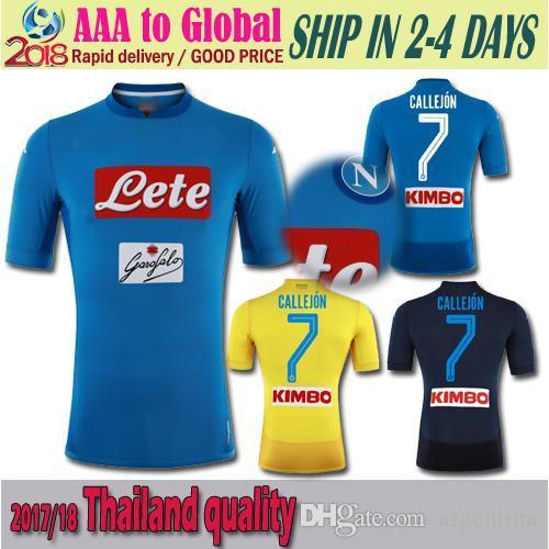 08b72fefe2ec7 Camisetas De Fútbol Napoli 7   Cllejo 14   Mertens 17   Hamsik 24 ...
