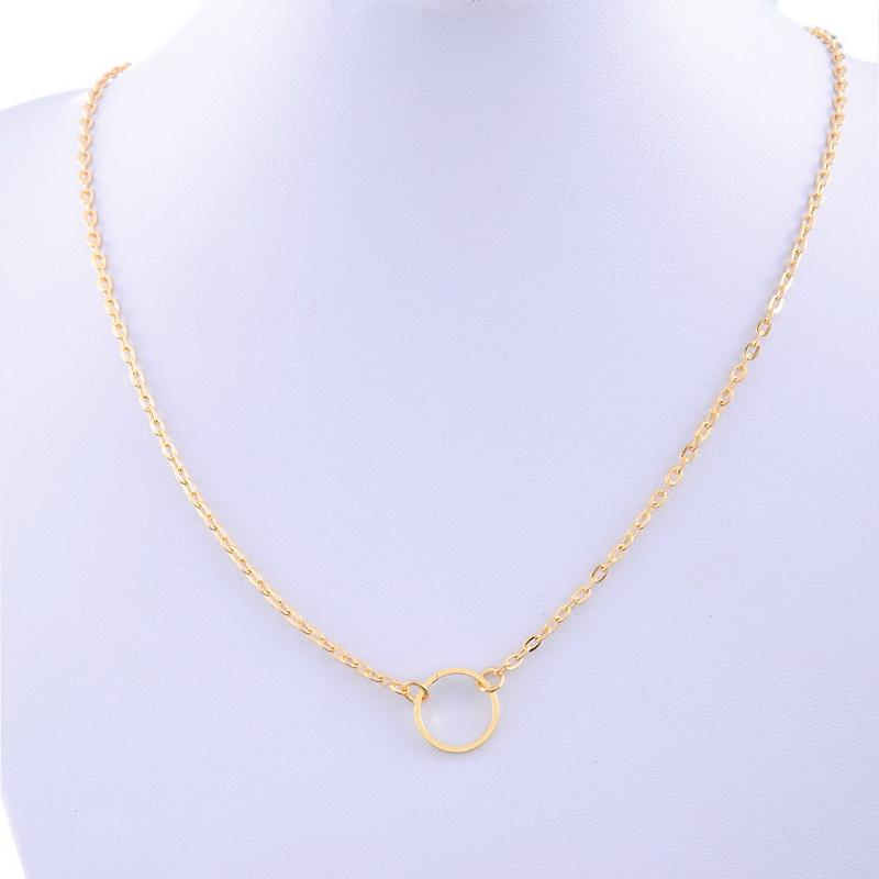 Wholesale New Women Chic Simple Design Circle Pendant Chain ...