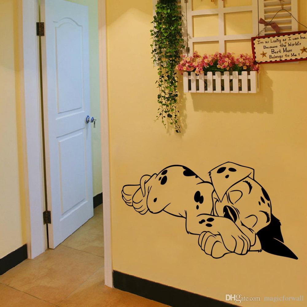 Sleeping Dog Wall Art Mural Decor Living Room Sleep Puppy Wallpaper Decoration Decal Home Art Poster Decal