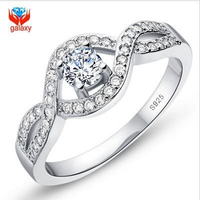 Grosshandel Echt 925 Sterling Silber Hochzeit Ringe Fur Frauen